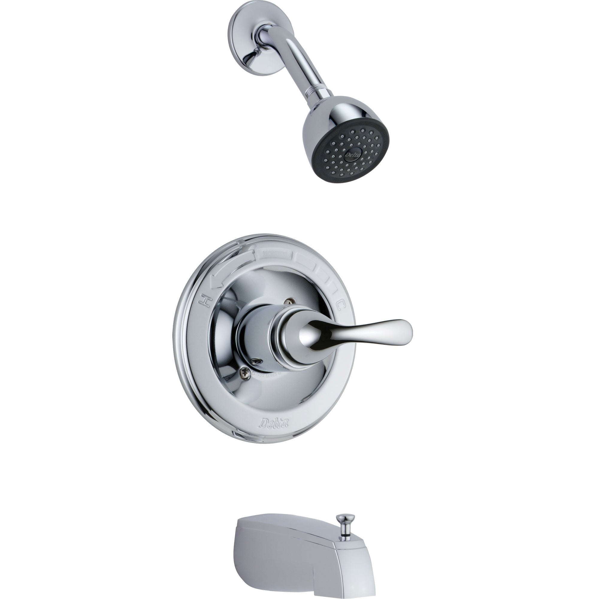 Delta Classic Single Handle Chrome Tub and Shower Combination Faucet Trim D297V
