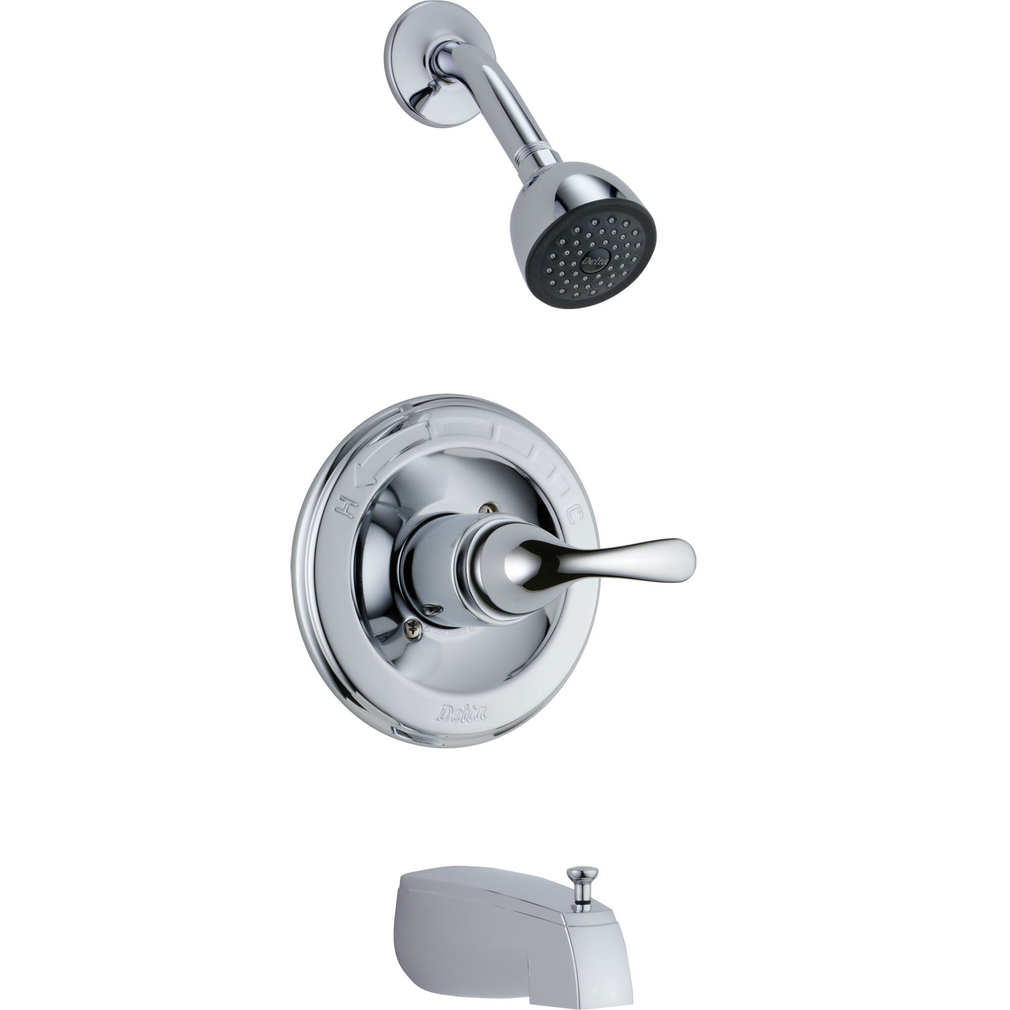 Delta Classic Single Handle Chrome Tub and Shower Combination Faucet Trim 778497