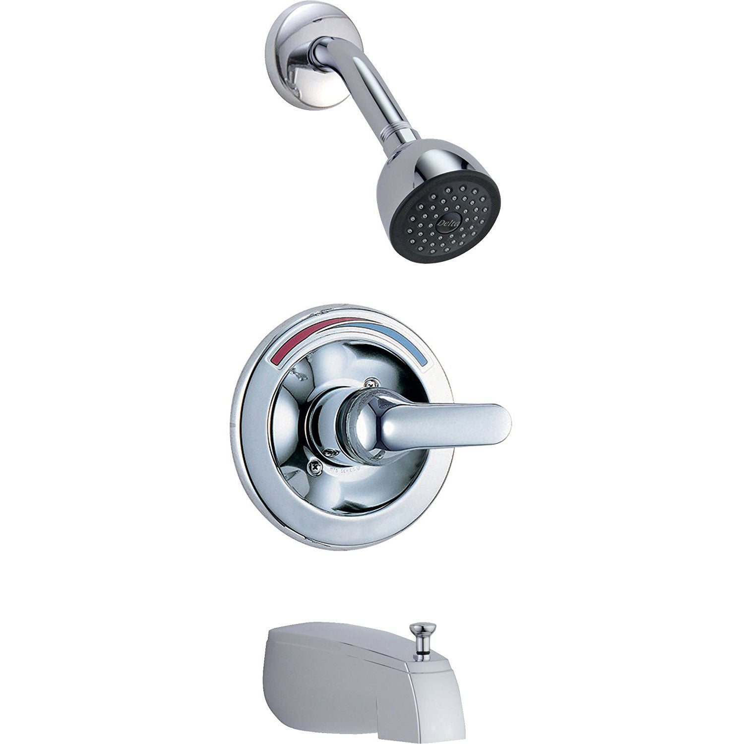 Delta Chrome Finish Monitor 13 Series Classic Style Tub and Shower Faucet Combination Includes Rough-in Valve without Stops D2515V