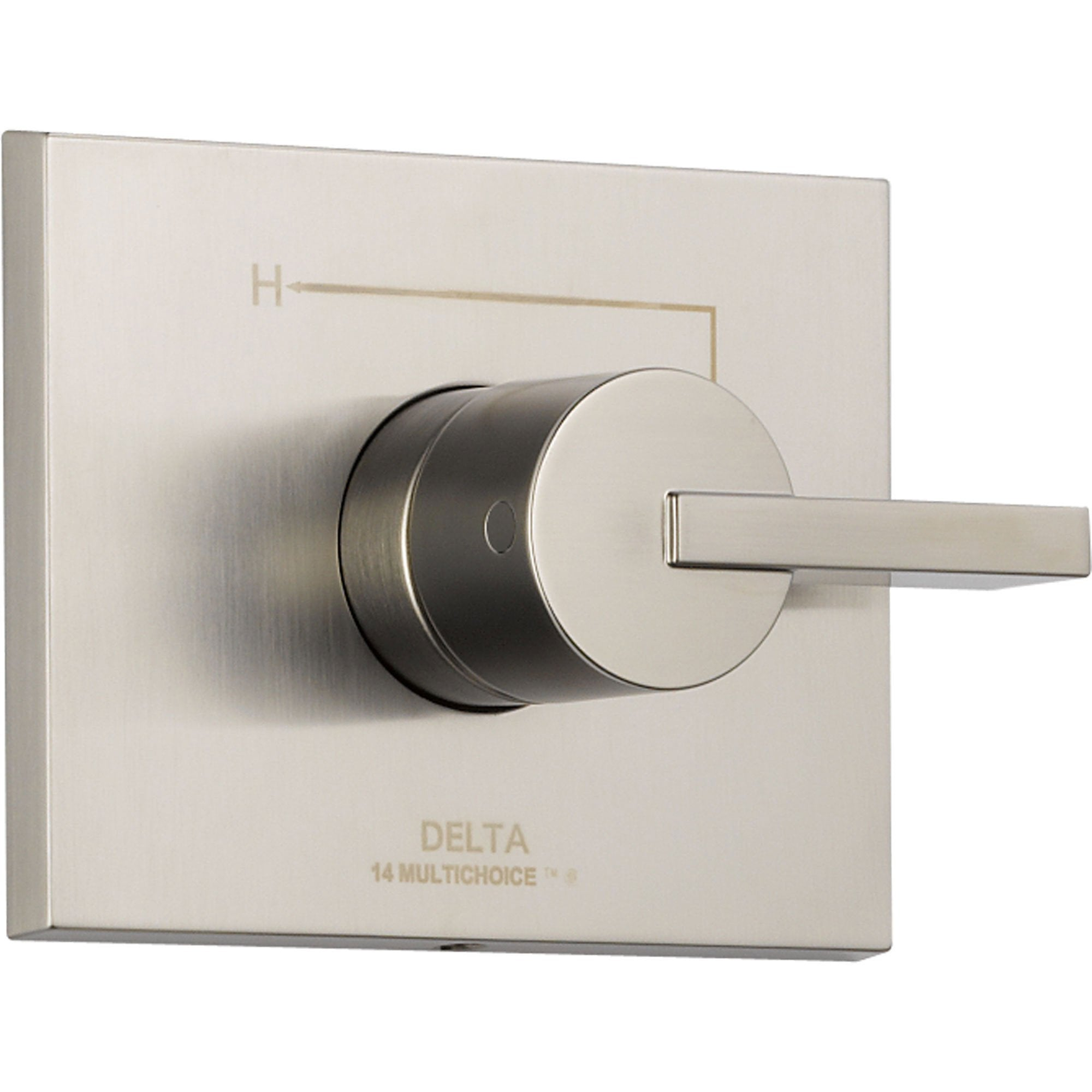 Delta Vero Stainless Steel Finish Single Handle Shower Control with Valve D056V