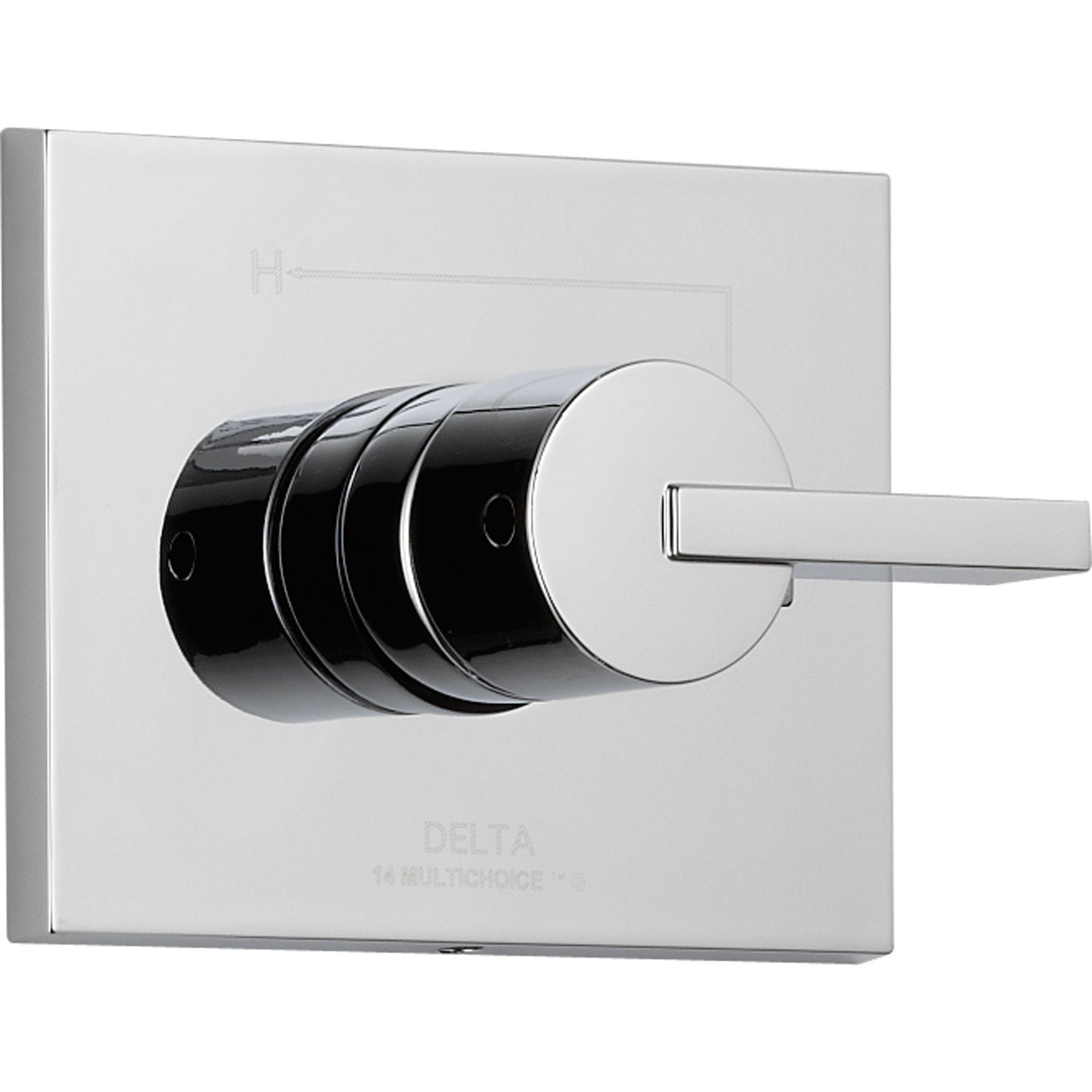 Delta Vero Modern Chrome Single Handle Shower Control Includes Rough Valve D053V