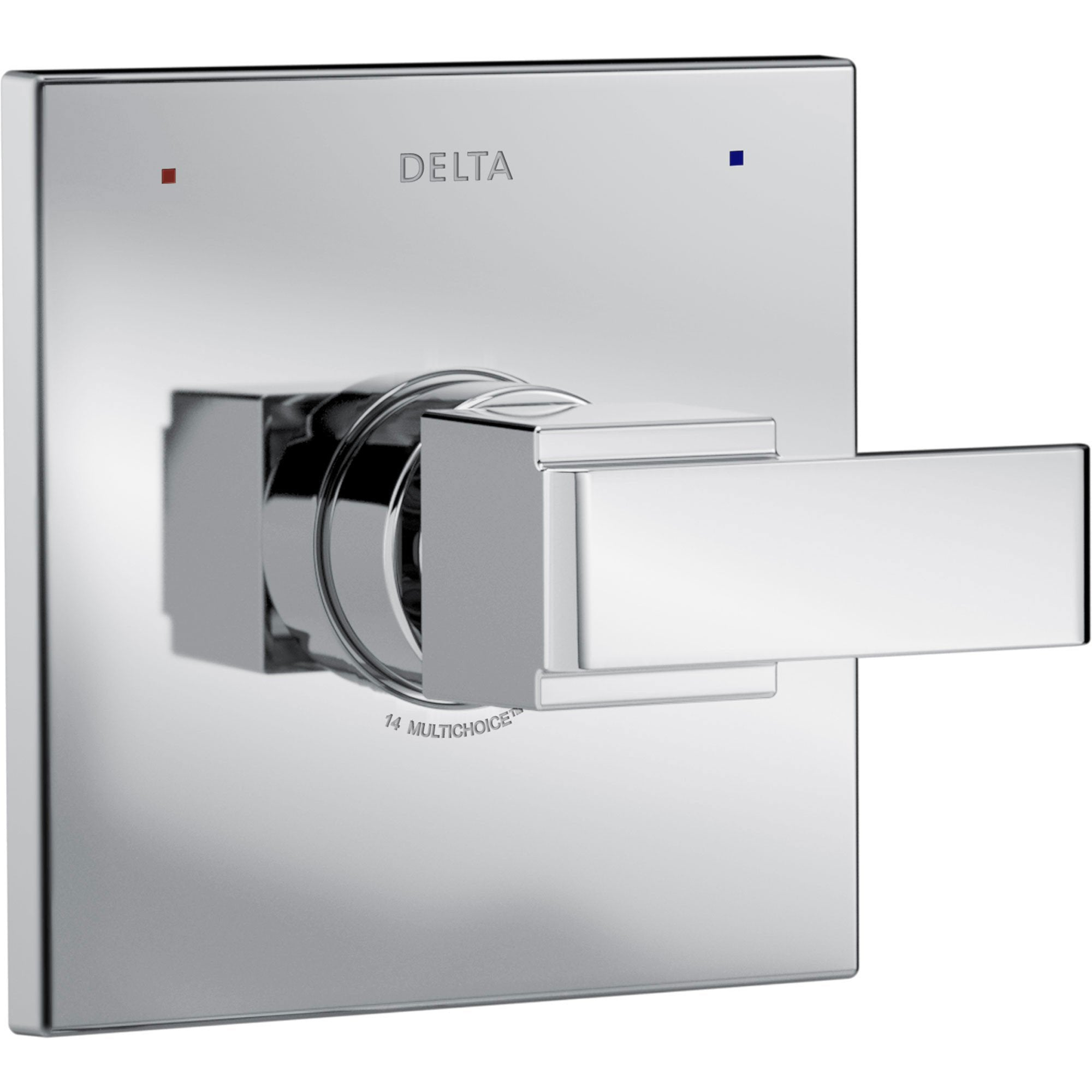 Delta Ara Modern Monitor 14 Series Chrome Finish Square Single Handle Pressure Balanced Shower Faucet Control INCLUDES Rough-in Valve with Stops D1255V
