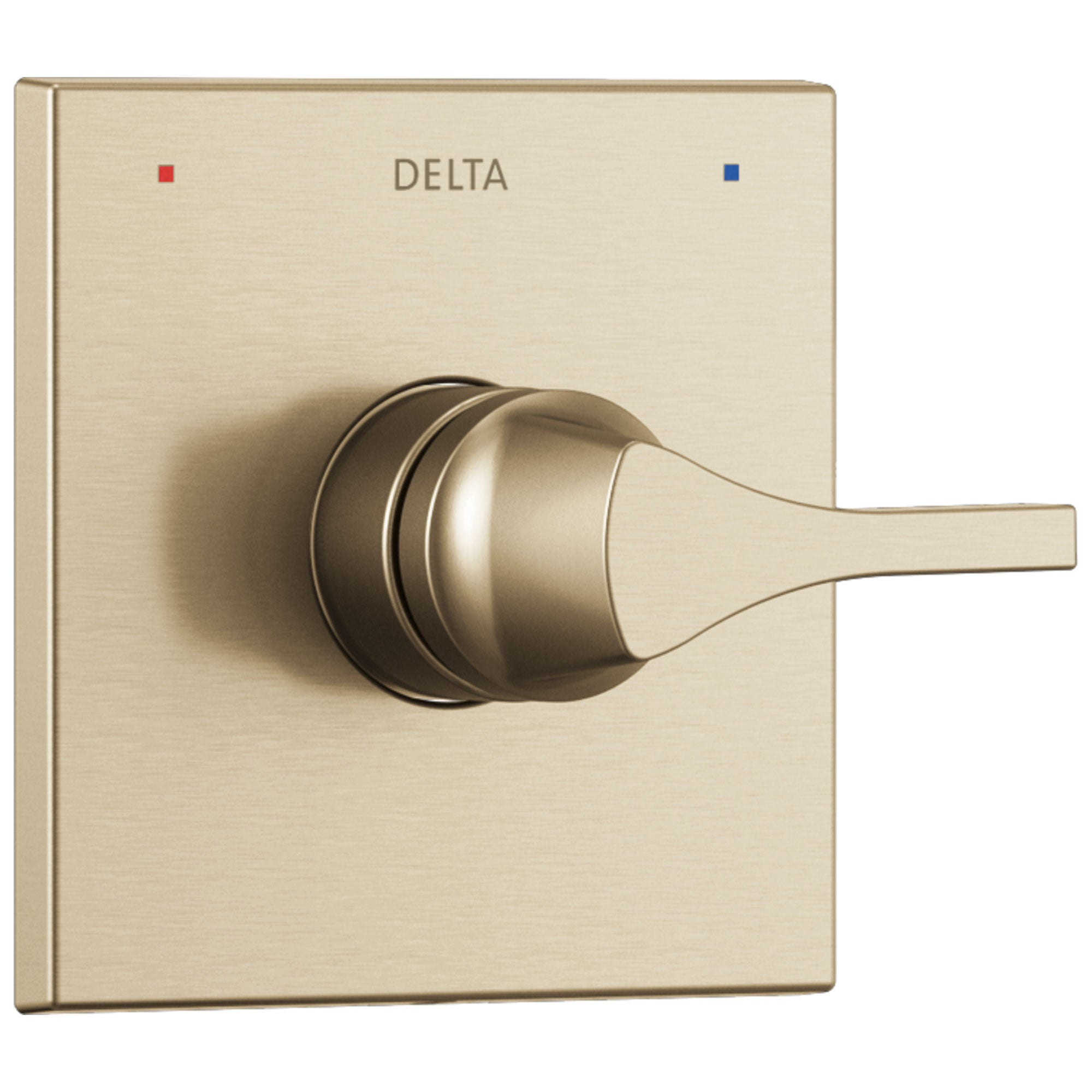 Delta Zura Champagne Bronze Finish Monitor 14 Series Shower Faucet Control Only Includes Handle, Cartridge, and Valve with Stops D3643V
