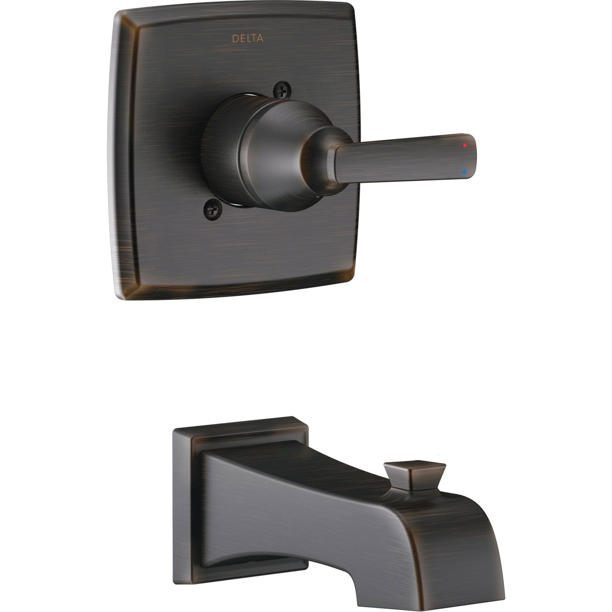 Delta Ashlyn Modern 14 Series Venetian Bronze Finish Single Handle Wall Mounted Tub Only Faucet INCLUDES Rough-in Valve with Stops D1239V
