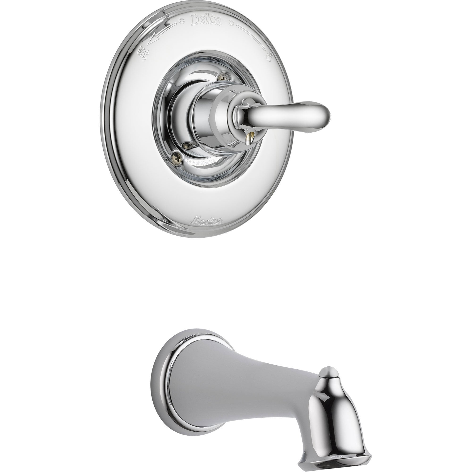 Delta Linden Chrome Single Handle Tub Only Faucet with Rough-in ...