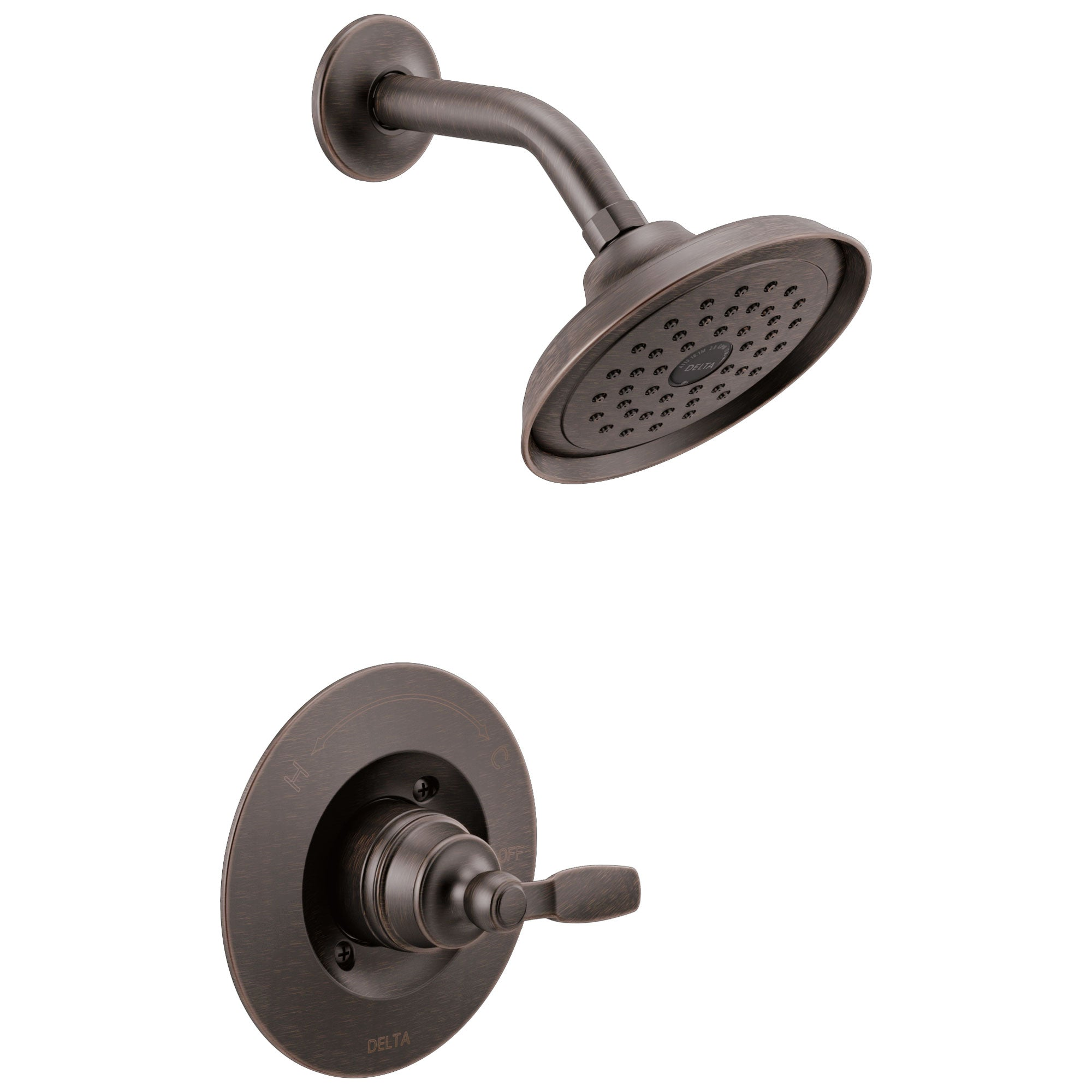 Delta Woodhurst Venetian Bronze Finish Shower only Faucet Includes Single Lever Handle, Cartridge, and Valve with Stops D3520V