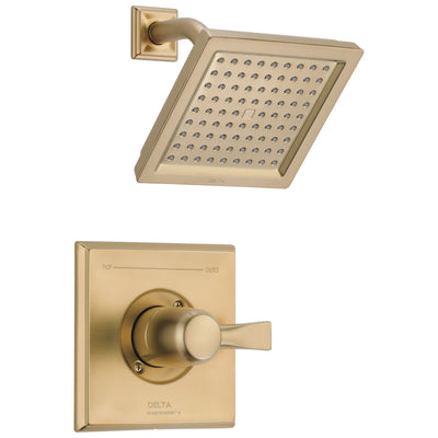 Delta Dryden Champagne Bronze Finish 14 Series Water Efficient Shower only Faucet Includes Single Handle, Cartridge, and Valve with Stops D3516V
