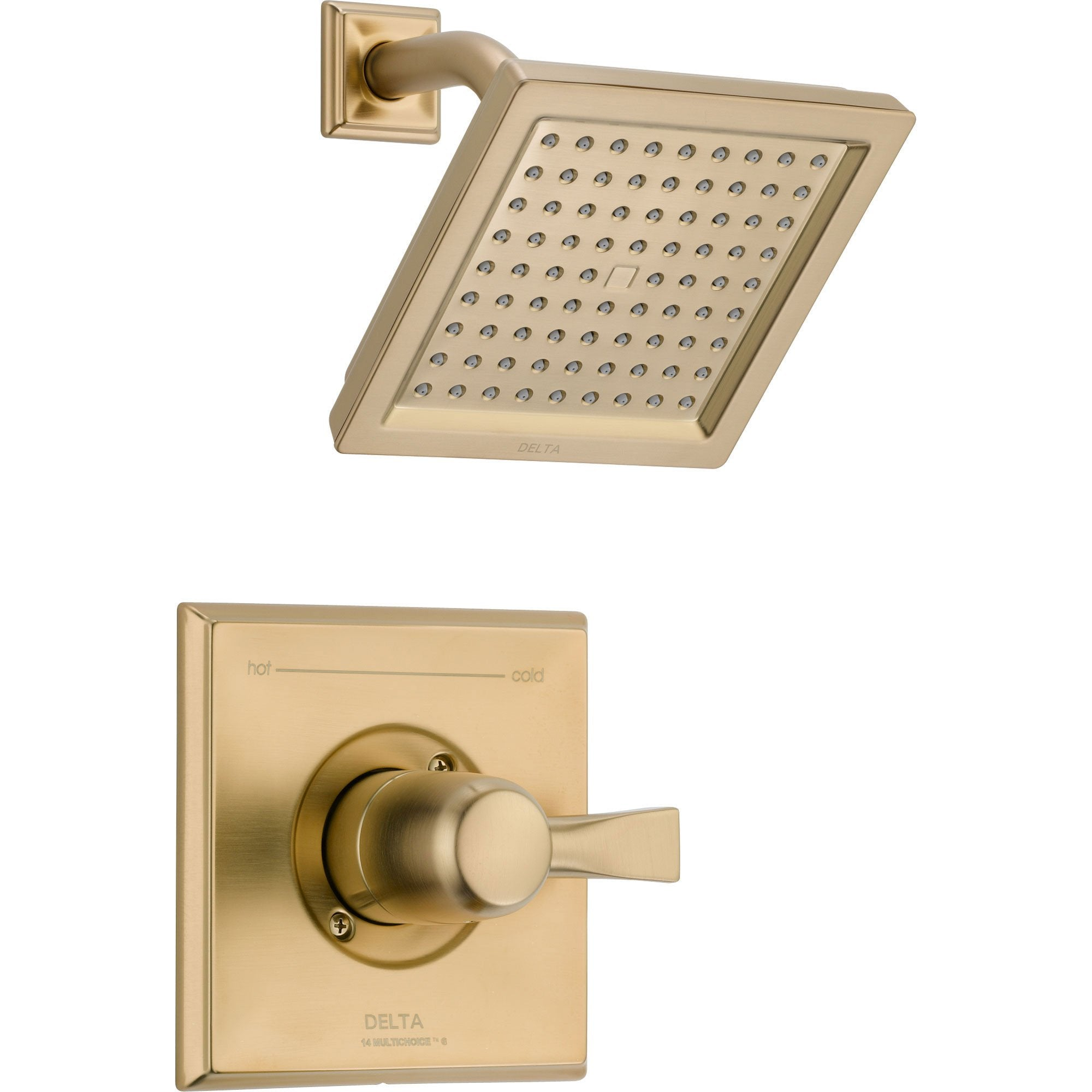 Delta Dryden Champagne Bronze Large Square Shower Only Faucet with Valve D570V