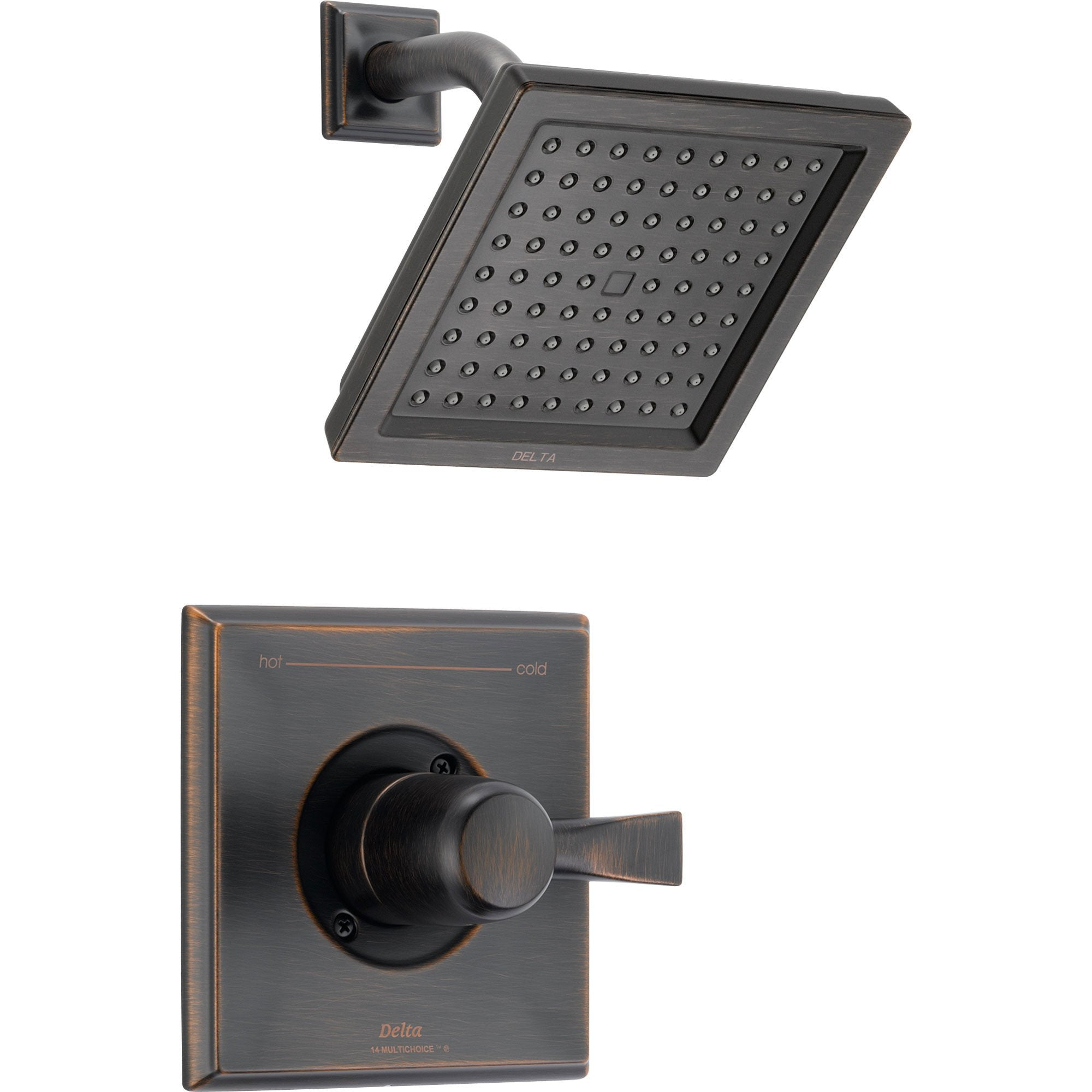 Delta Dryden Venetian Bronze Modern Square Shower Only Faucet with Valve D573V