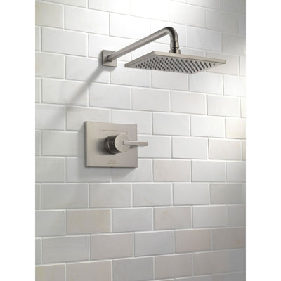 Delta Vero Stainless Steel Finish Large Square Shower Only Faucet Trim 521923
