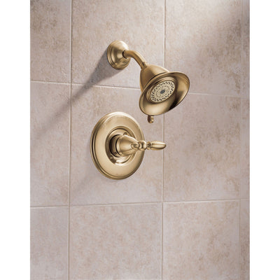 Delta Victorian Collection Champagne Bronze Traditional Monitor 14 Shower Faucet INCLUDES Single Lever Handle and Rough-Valve with Stops D1573V