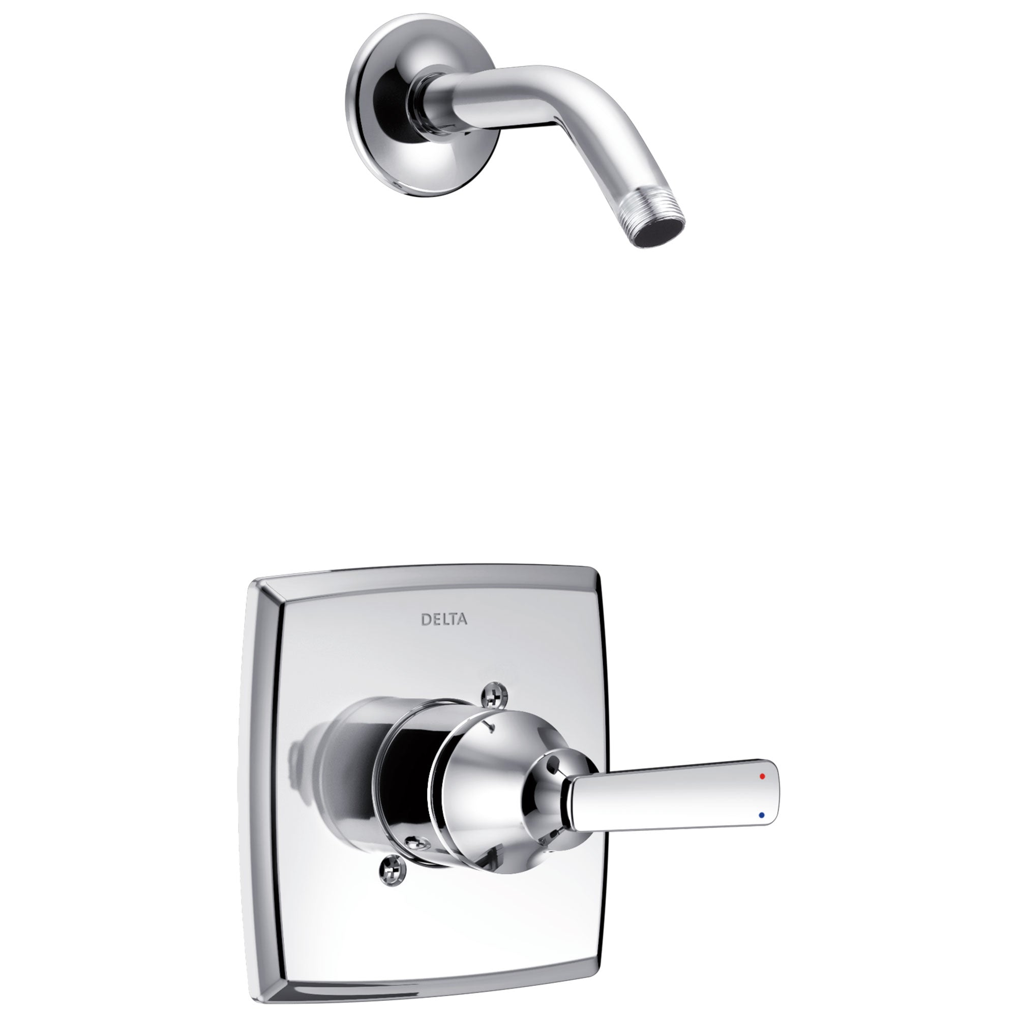 Delta Ashlyn Collection Chrome Monitor 14 Modern Single Lever Shower only Faucet Trim Kit - Less Showerhead Includes Rough-in Valve with Stops D2448V