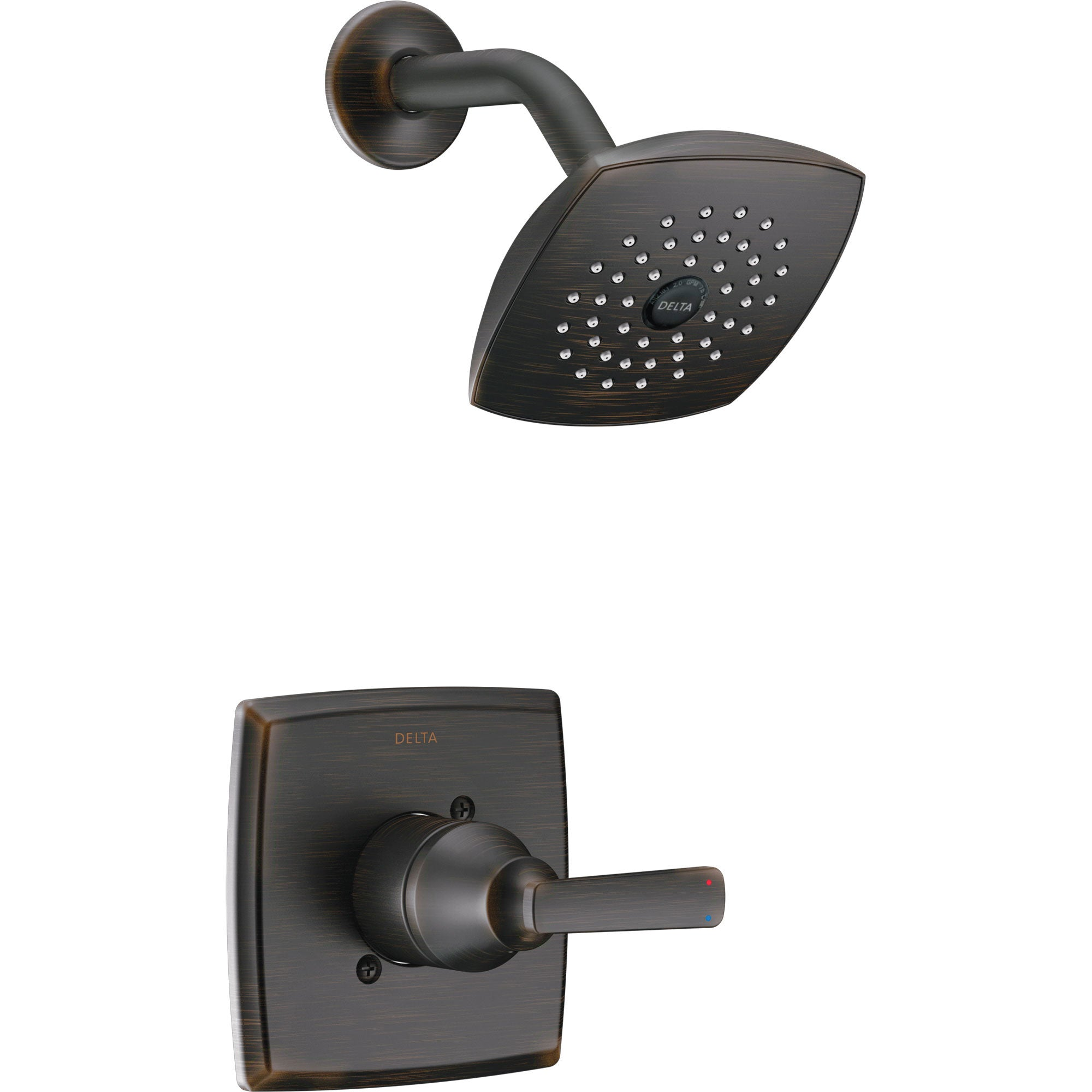 Delta Ashlyn Modern 14 Series Watersense Venetian Bronze Finish Single Handle Shower Only Faucet INCLUDES Rough-in Valve D1232V