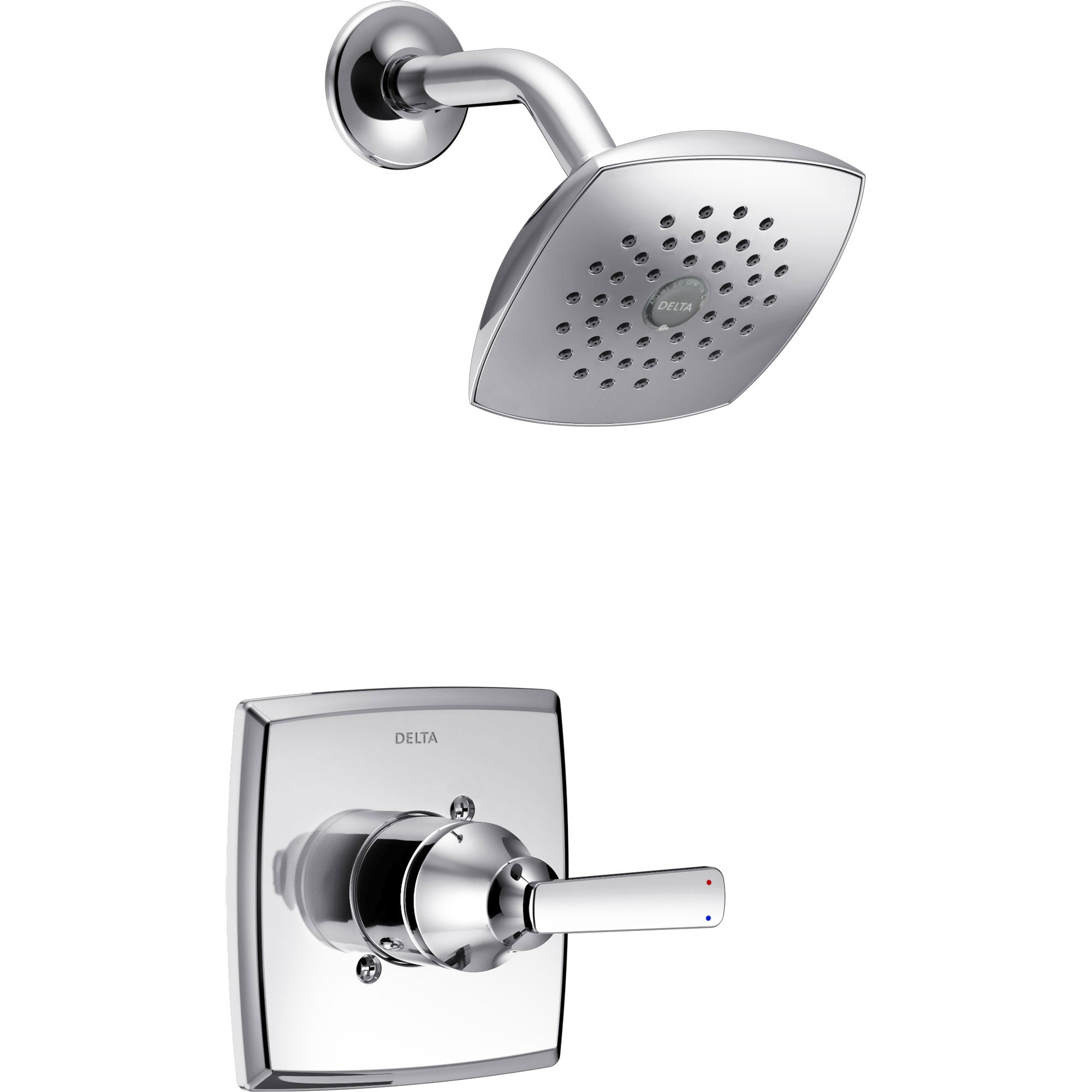 Delta Ashlyn Modern 14 Series Watersense Chrome Finish Single Handle Shower Only Faucet INCLUDES Rough-in Valve D1234V