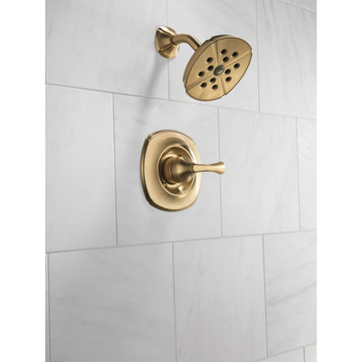 Delta Addison Champagne Bronze Single Handle Modern Shower Faucet Trim 525011