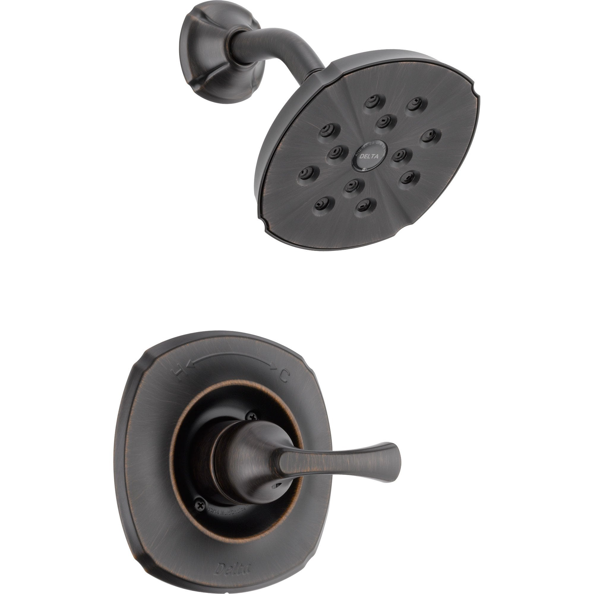 Delta Addison Venetian Bronze Modern Single Handle Shower Faucet Trim 476399