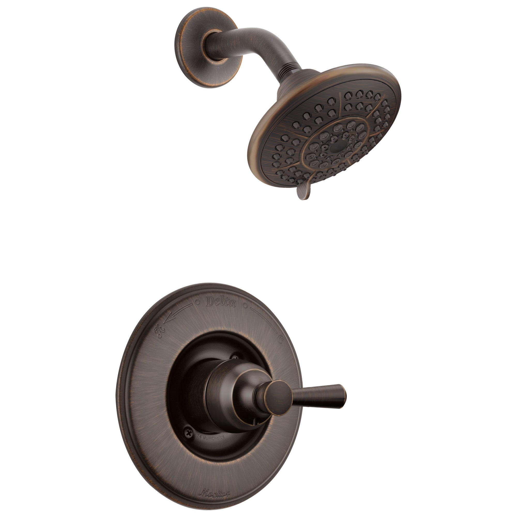 Delta Linden Collection Venetian Bronze Monitor 14 Contemporary Style Single Lever Handle Shower only Faucet Includes Rough-in Valve with Stops D2430V