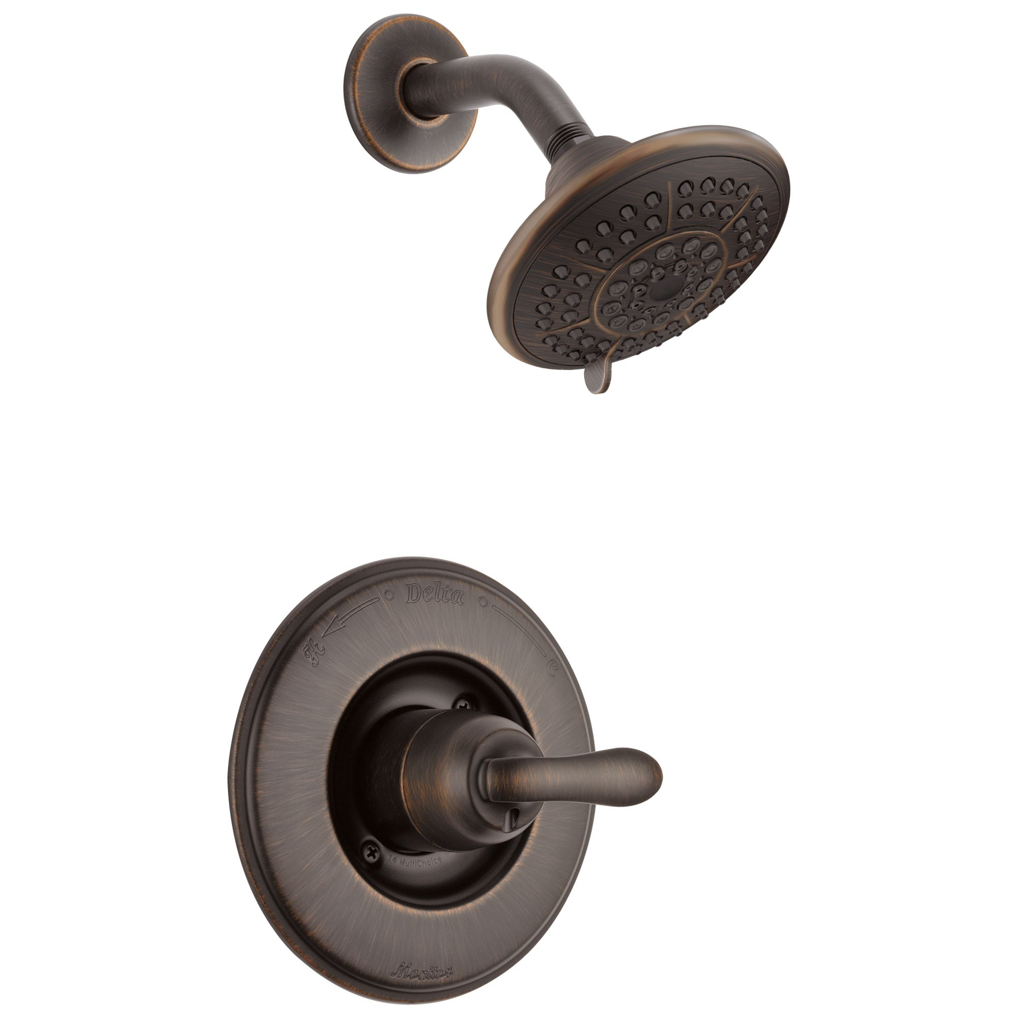 Delta Linden Venetian Bronze Single Handle Shower Only Faucet with Valve D602V