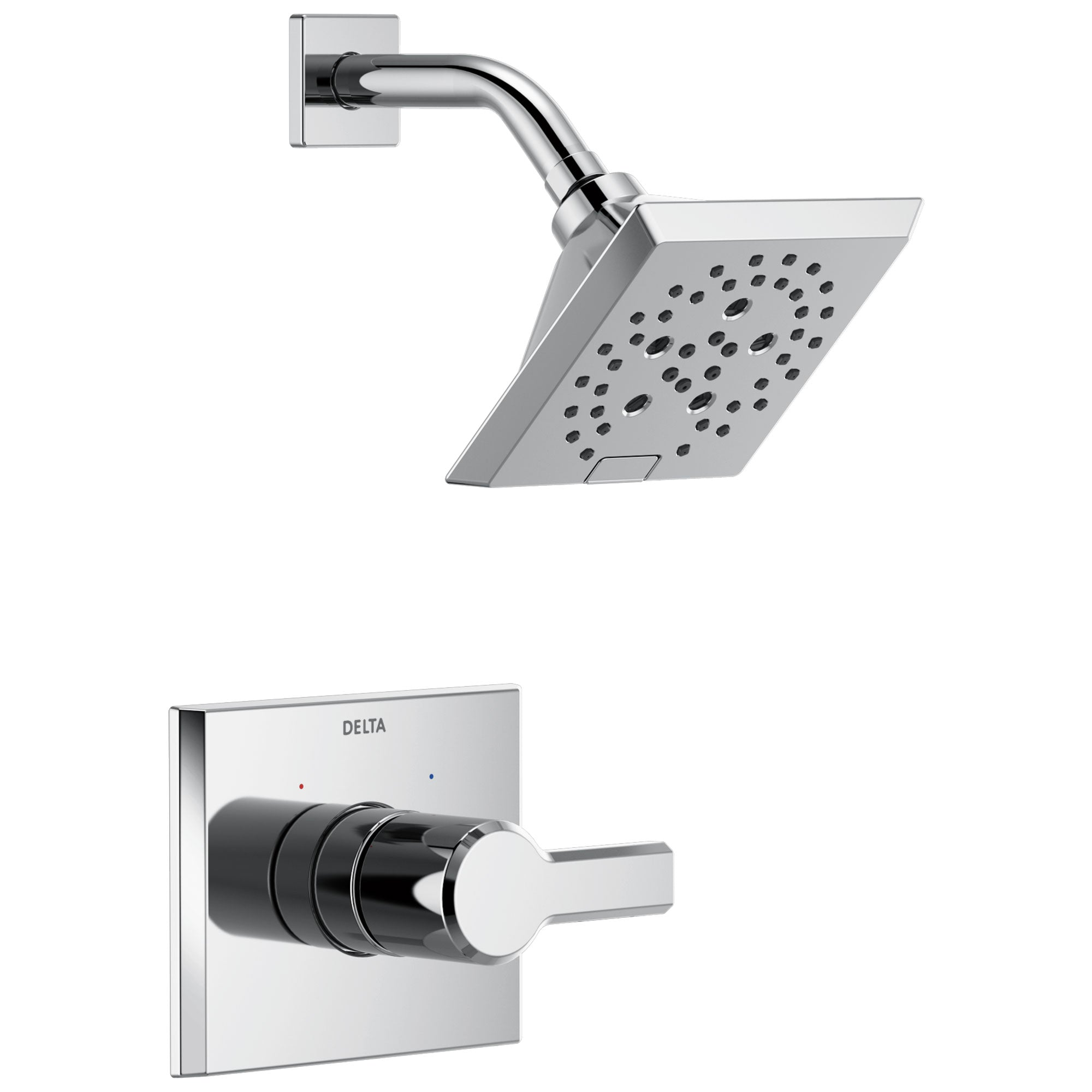 Delta Pivotal Chrome Finish Monitor 14 Series Shower only Faucet Includes Single Lever Handle, Cartridge, and Valve with Stops D3482V