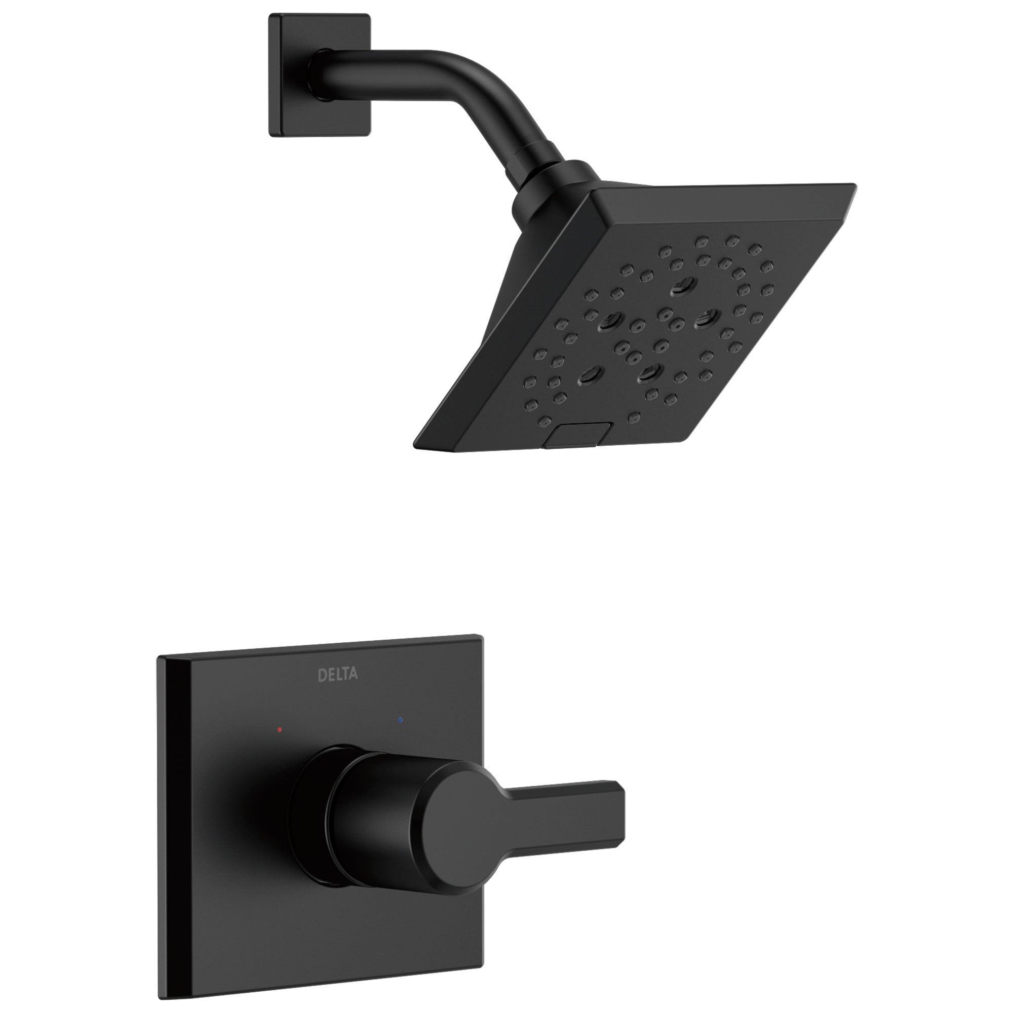 Delta Pivotal Matte Black Finish Monitor 14 Series H2Okinetic Shower only Faucet Trim Kit (Requires Valve) DT14299BL