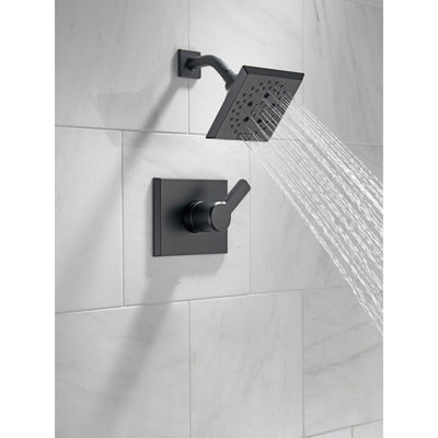 Delta Pivotal Matte Black Finish Monitor 14 Series Shower only Faucet Includes Single Lever Handle, Cartridge, and Valve with Stops D3480V