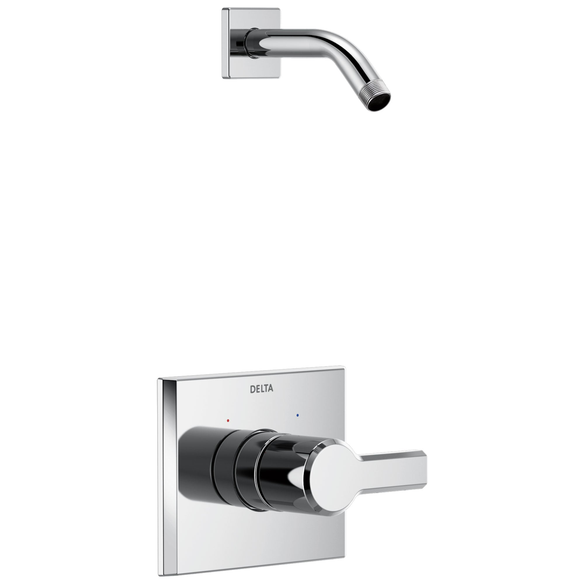Delta Pivotal Chrome Finish 14 Series Shower only Faucet Less Showerhead Includes Single Handle, Cartridge, and Valve without Stops D3477V