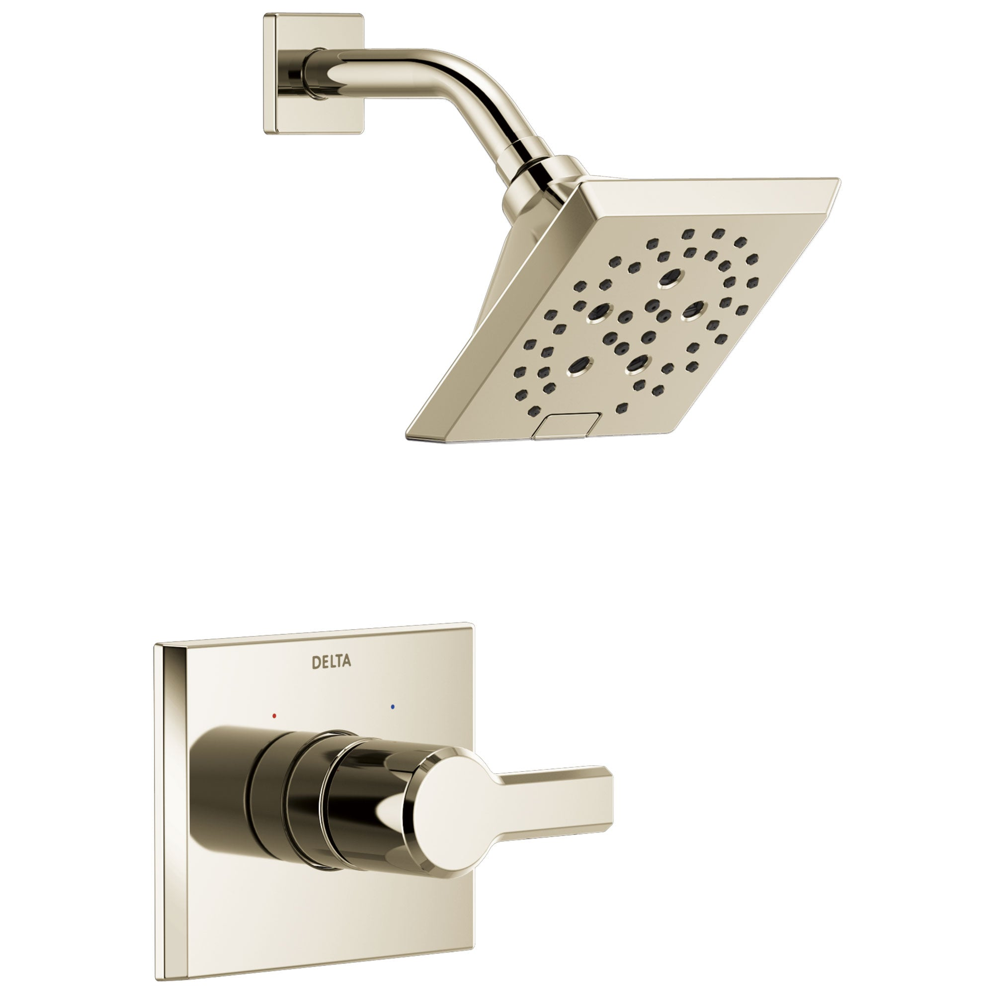 Delta Pivotal Polished Nickel Finish Monitor 14 Series H2Okinetic Shower only Faucet Trim Kit (Requires Valve) DT14299PN