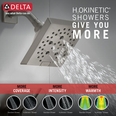 Delta Pivotal Stainless Steel Finish Monitor 14 Series Shower only Faucet Includes Single Lever Handle, Cartridge, and Valve with Stops D3474V