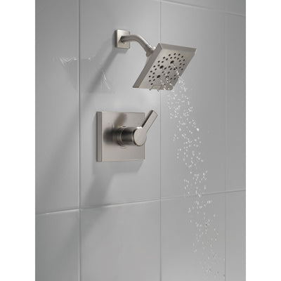 Delta Pivotal Stainless Steel Finish Monitor 14 Series Shower only Faucet Includes Single Lever Handle, Cartridge, and Valve without Stops D3473V