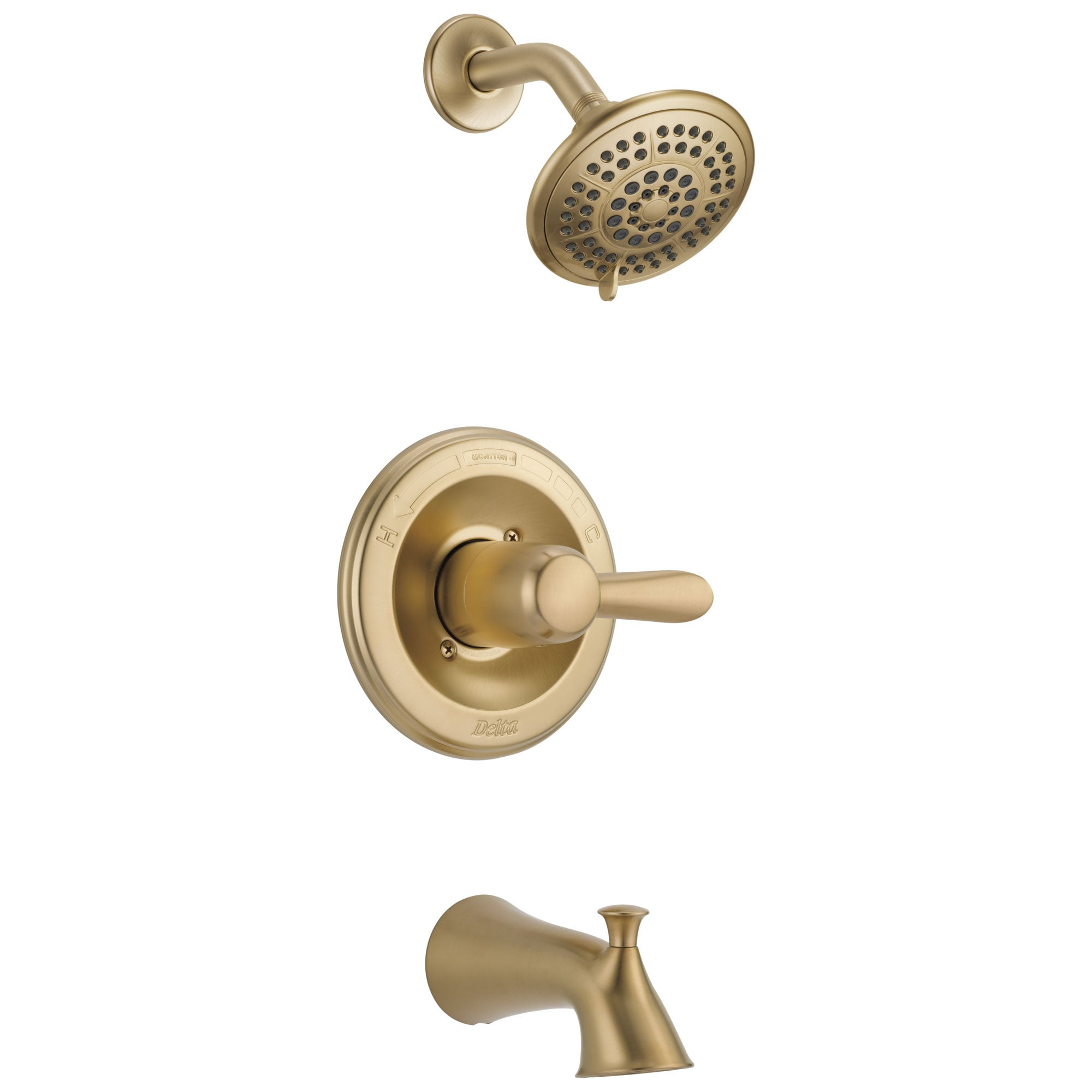 Delta Lahara Champagne Bronze Tub and Shower Combination Faucet with Valve D306V
