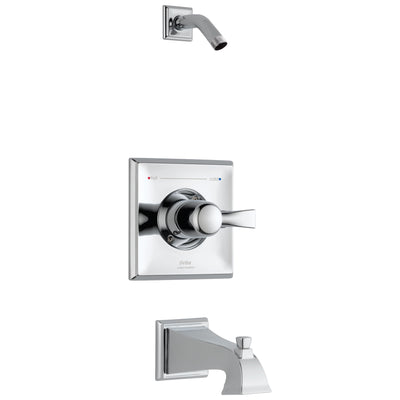 Delta Dryden Collection Chrome Monitor 14 Pressure and Temp Balanced Tub and Shower Faucet Combo Trim - Less Showerhead Includes Valve with Stops D2414V