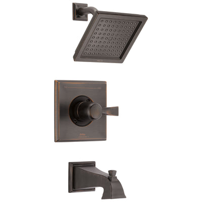 Delta Dryden Venetian Bronze Finish Water Efficient Tub & Shower Combination Faucet Includes Single Handle, Cartridge, and Valve with Stops D3460V