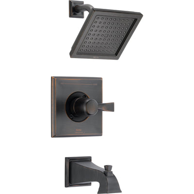 Delta Dryden Modern Square Venetian Bronze Tub and Shower Faucet w/ Valve D250V