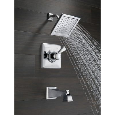 Delta Dryden Collection Chrome Finish Monitor 14 Series Water Efficient 1.75 GPM Tub and Shower Faucet Trim Kit (Valve Sold Separately) DT14451WE