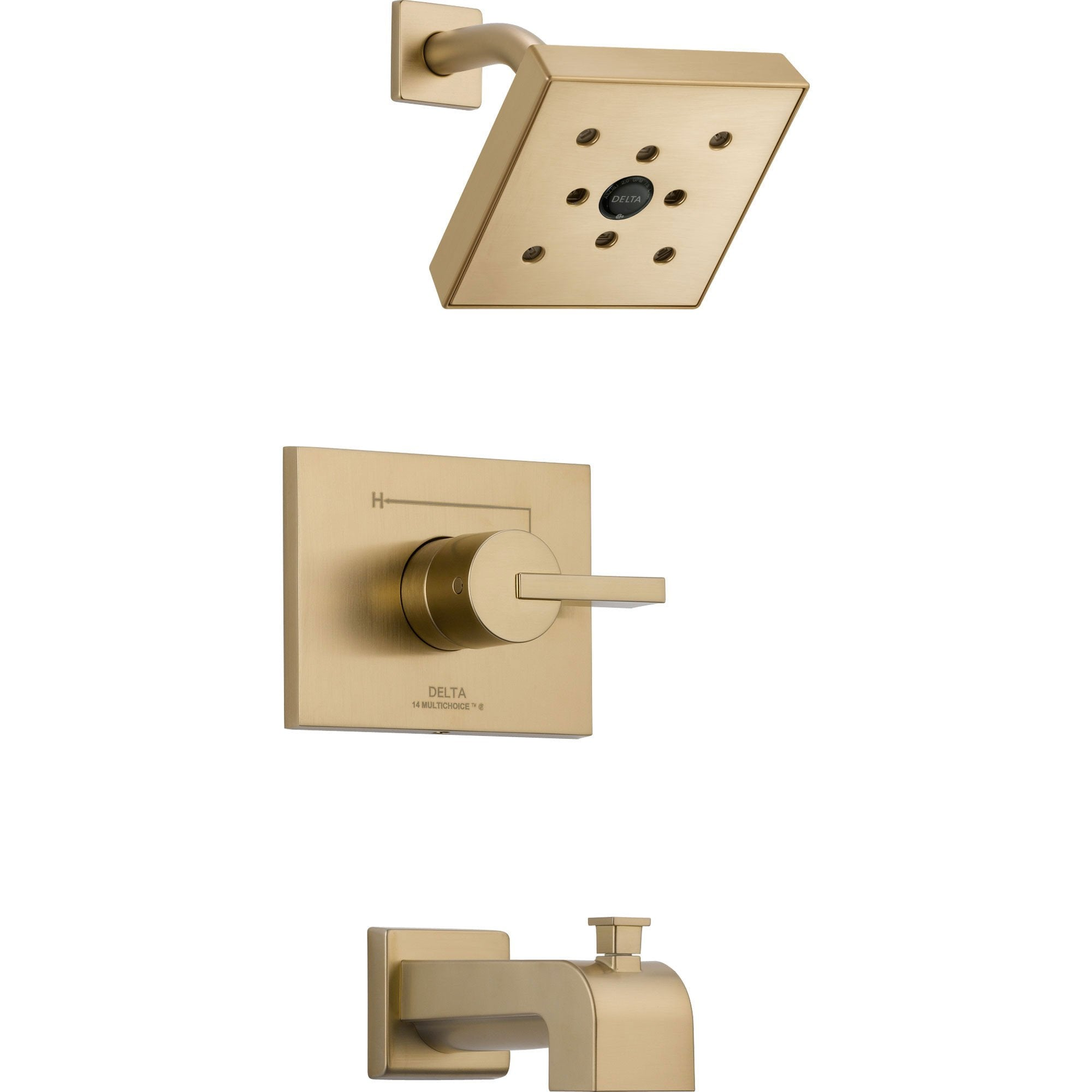 Delta Vero Modern Champagne Bronze Tub and Shower Combination with Valve D322V