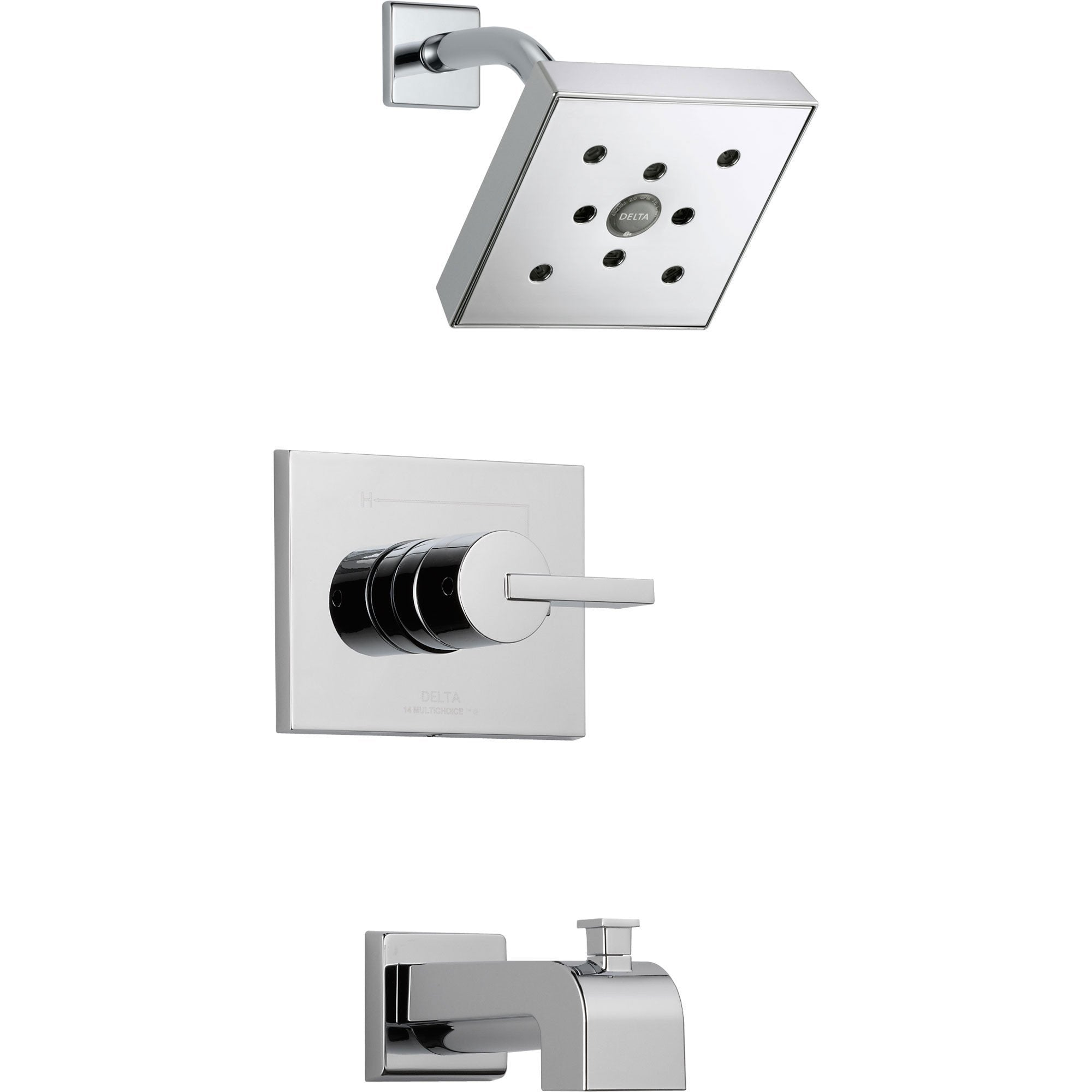 Delta Vero Modern Tub and Shower Combination Faucet with Valve in Chrome D323V