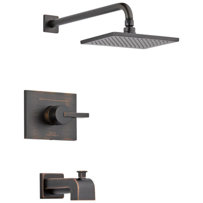 Delta Vero Venetian Bronze Finish 14 Series Water Efficient Tub & Shower Combination Faucet Includes Cartridge, Handle, and Valve with Stops D3454V