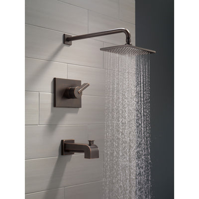Delta Vero Venetian Bronze Finish 14 Series Water Efficient Tub & Shower Combination Faucet Includes Cartridge, Handle, and Valve without Stops D3453V