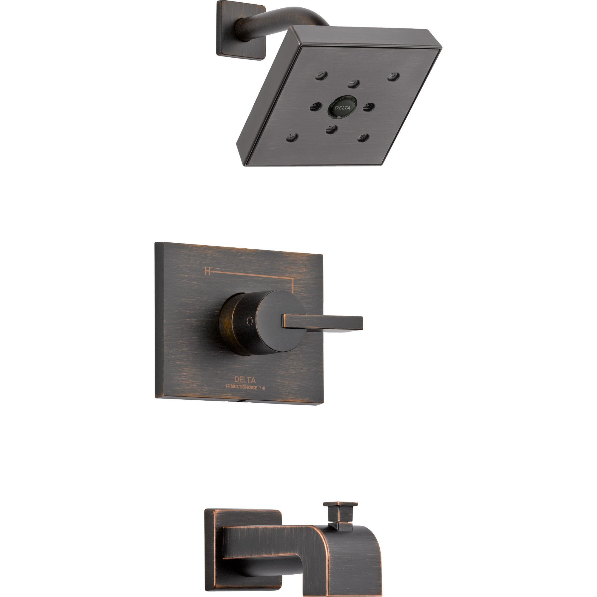 Delta Vero Modern Venetian Bronze Tub and Shower Combination with Valve D325V