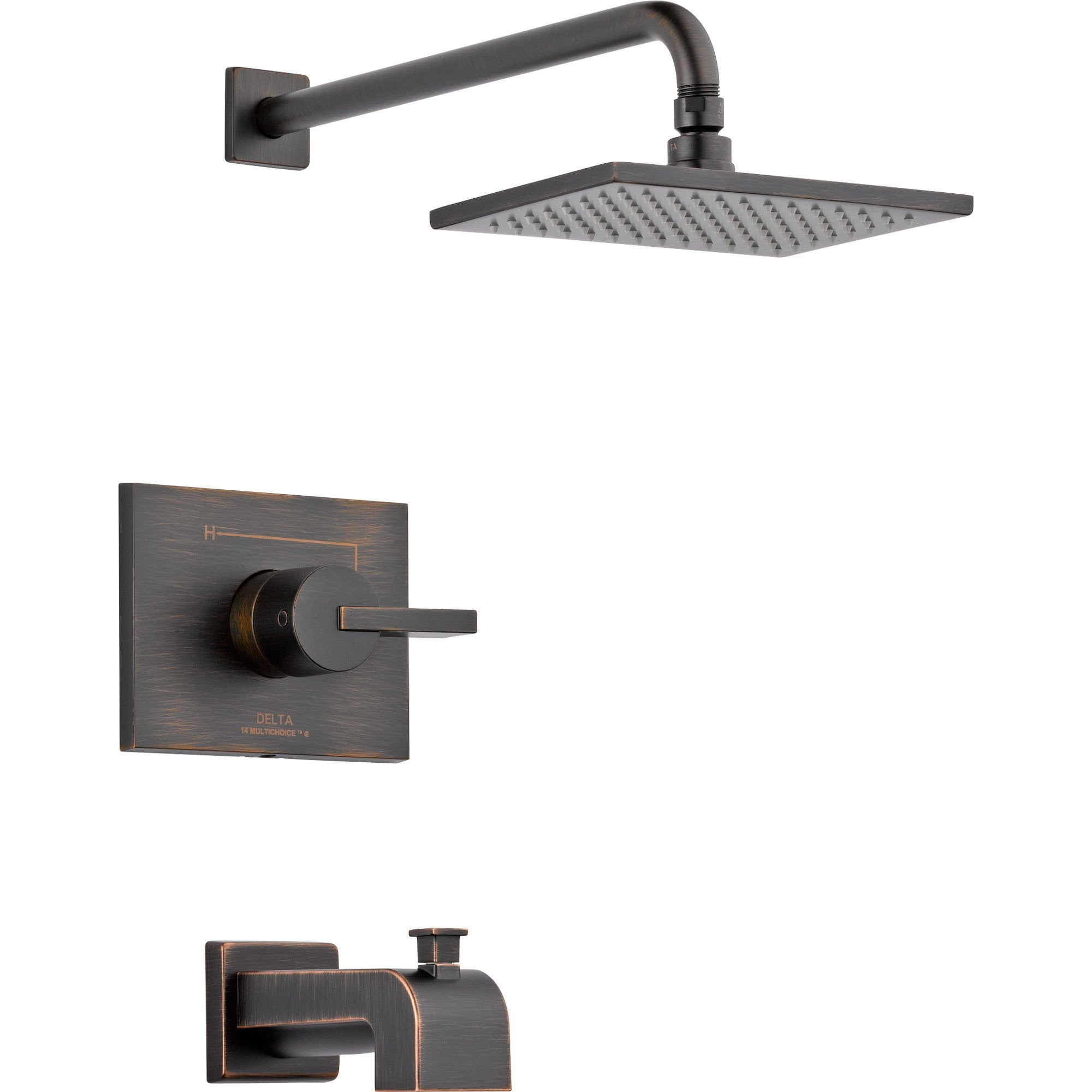 Delta Vero Modern Venetian Bronze Tub and Shower Combination with Valve D324V