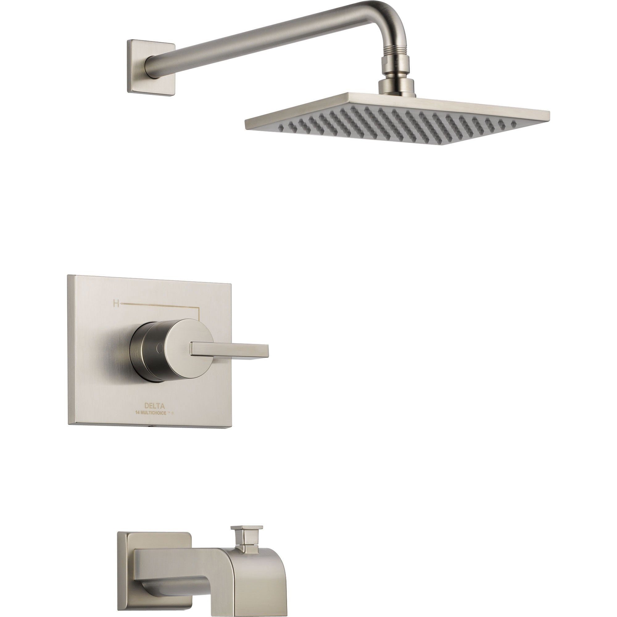Delta Vero Stainless Steel Finish Tub and Shower Combination with Valve D326V