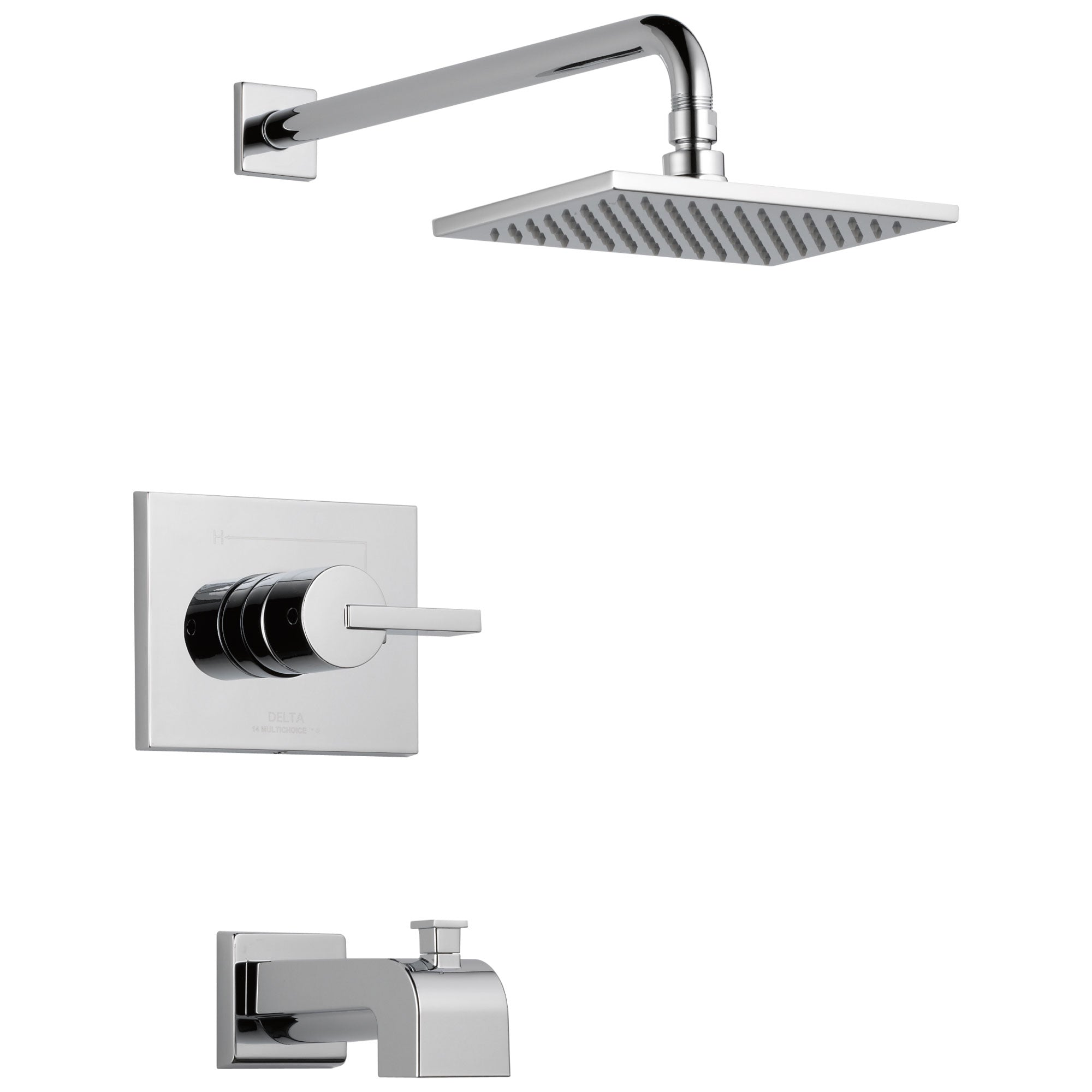 Delta Vero Chrome Finish Monitor 14 Series Water Efficient Tub & Shower Combination Faucet Includes Cartridge, Handle, and Valve with Stops D3450V