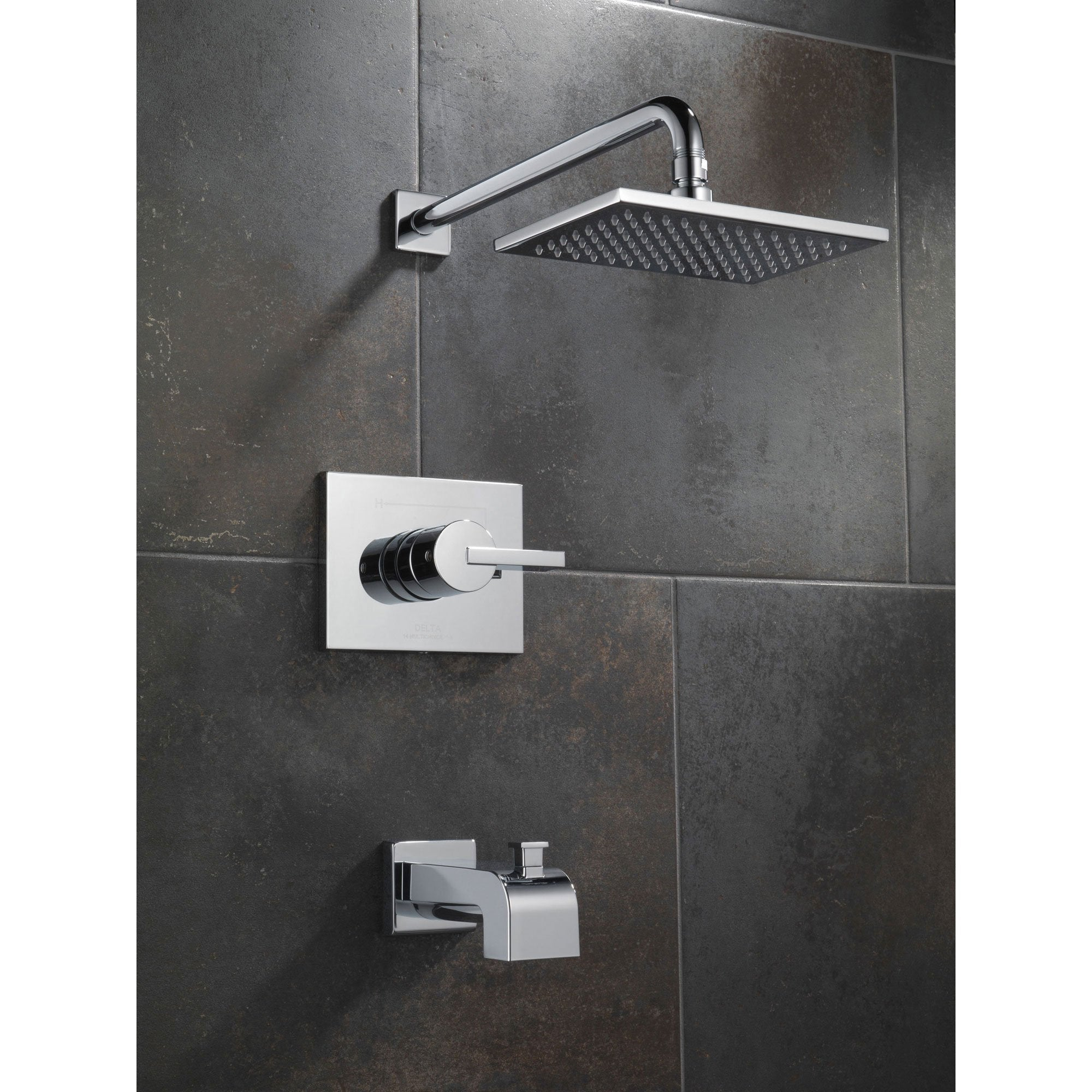 Delta Vero Modern Tub and Shower Combination Faucet Trim Kit in ...
