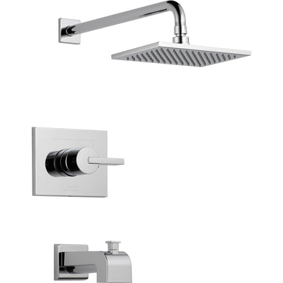 Delta Vero Modern Tub and Shower Combination Faucet with Valve in Chrome D254V