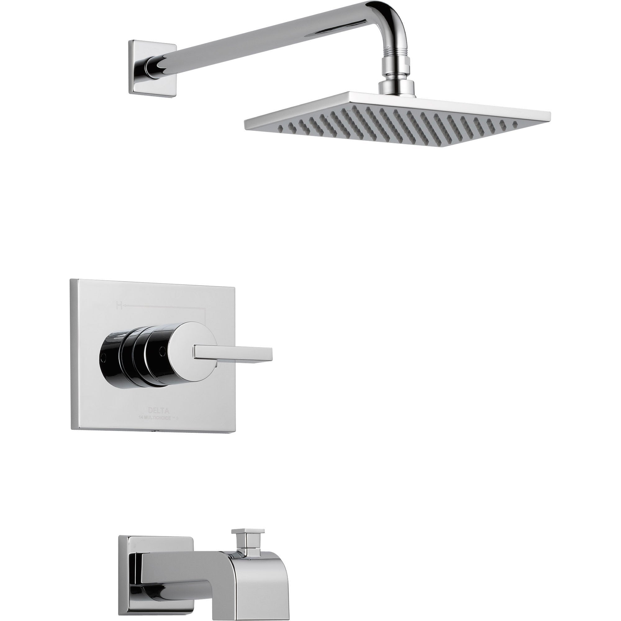 Delta Vero Modern Tub and Shower Combination Faucet with Valve in Chrome D320V