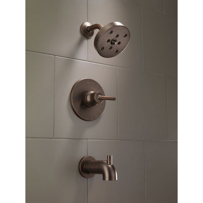 Delta Trinsic Modern Venetian Bronze Tub and Shower Faucet with Valve D330V