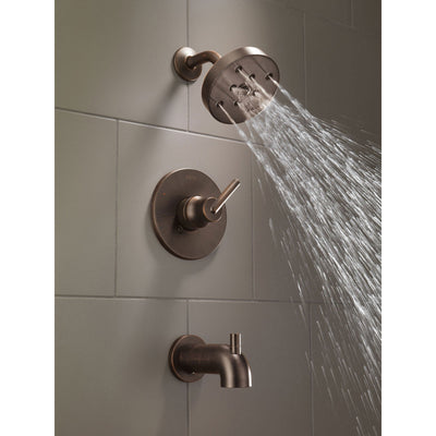 Delta Trinsic Modern Venetian Bronze Tub and Shower Faucet with Valve D264V