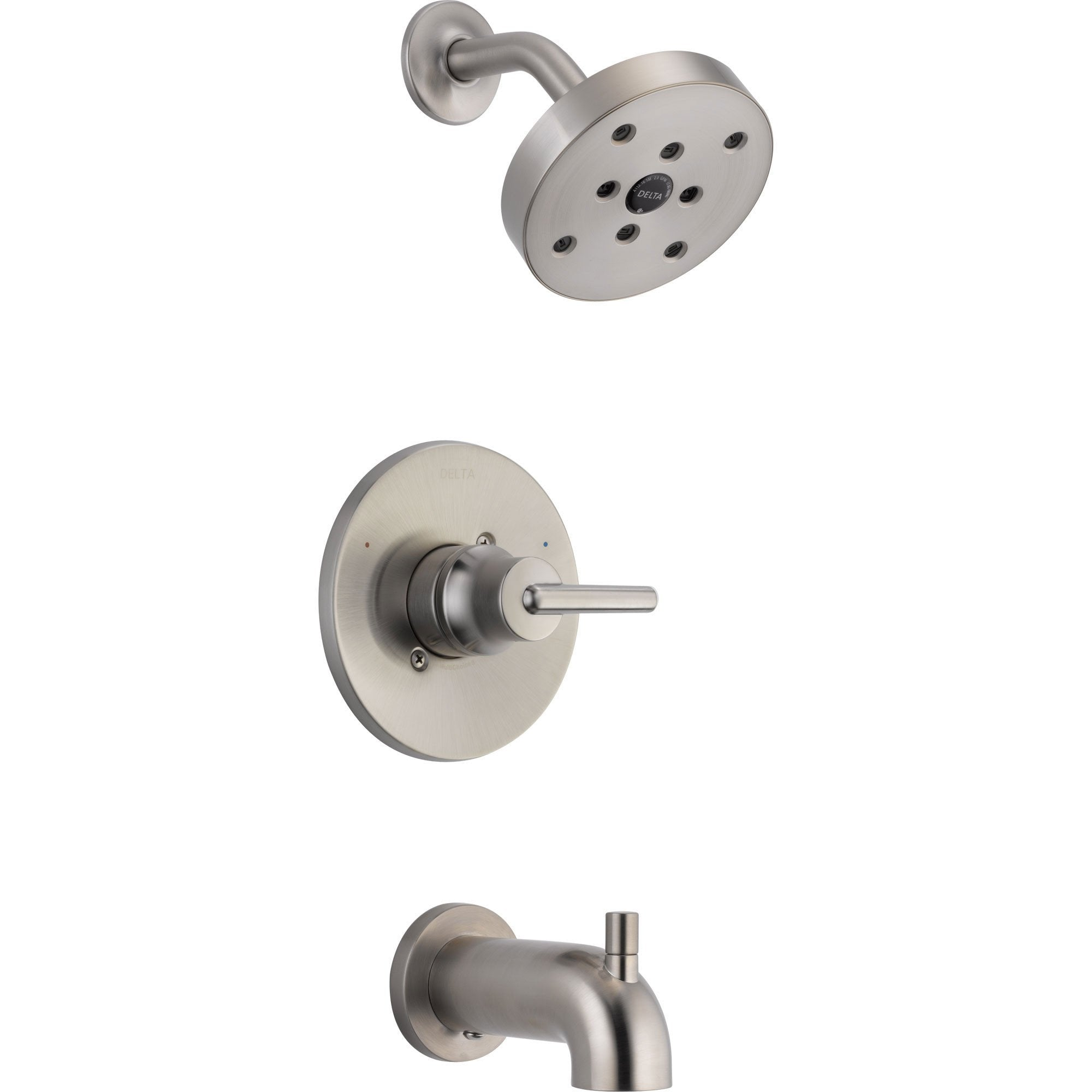 Delta Trinsic Stainless Steel Finish Tub & Shower Combo Faucet with Valve D331V
