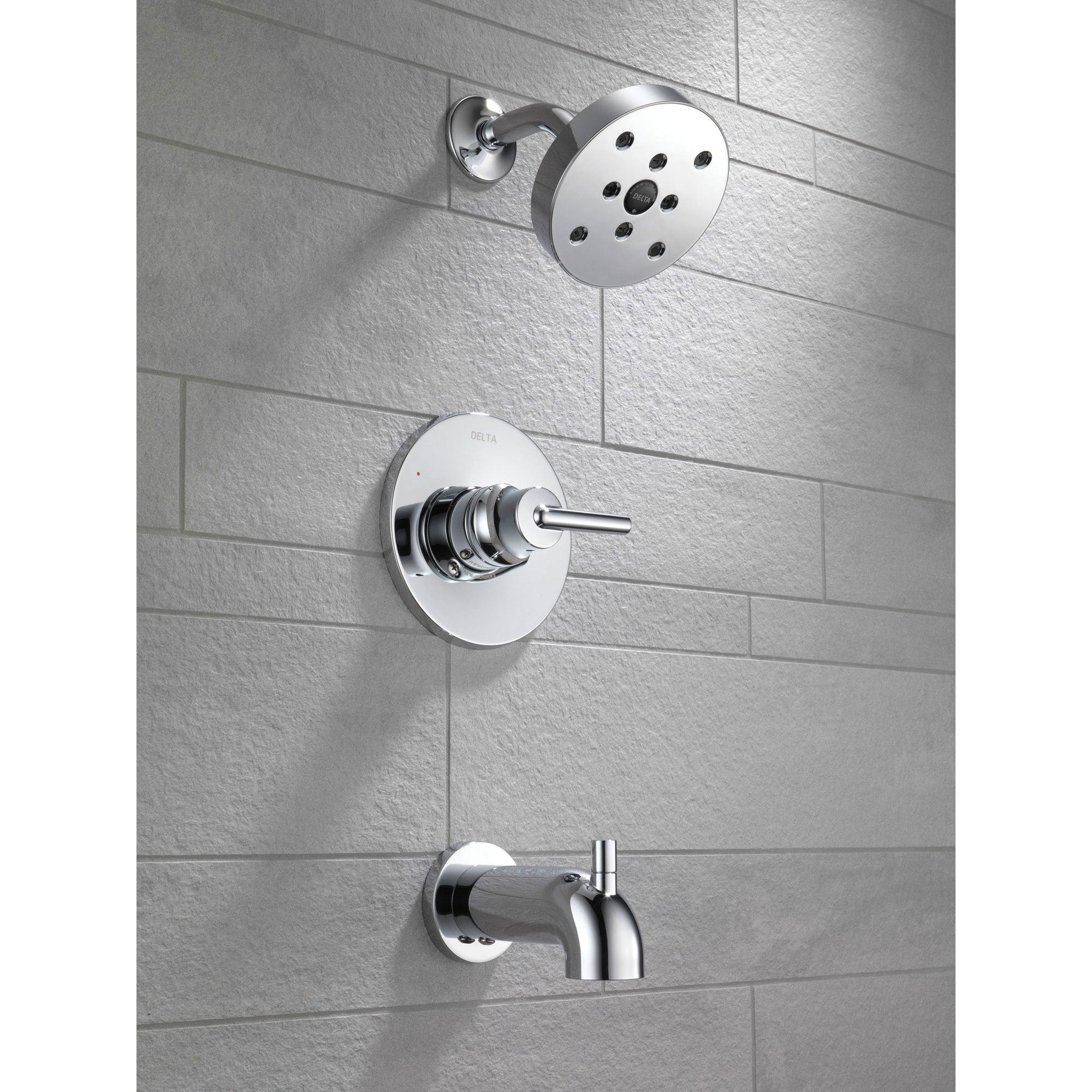 Delta Trinsic Modern Chrome Tub And Shower Combo Faucet Includes Valve D328V