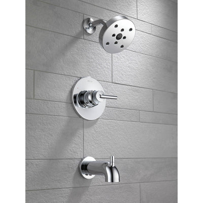 Delta Trinsic Modern Chrome Tub and Shower Combo Faucet Includes Valve D262V